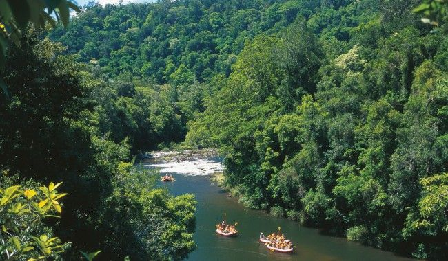 White water rafting on Queensland's Tully River