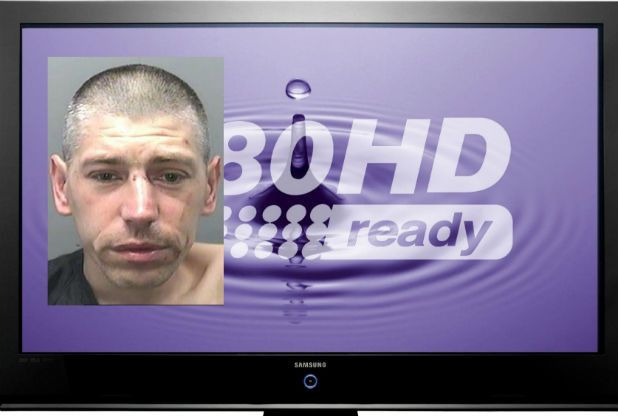 Wayne Andrew Davies burgled a house in Townhill - then tried to sell the stolen TV back to its owner