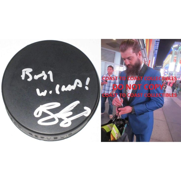 Brent Burns, San Jose Sharks, Signed, Autographed, Hockey Puck, a COA with the Proof Photo of Brent Signing Will Be Included.