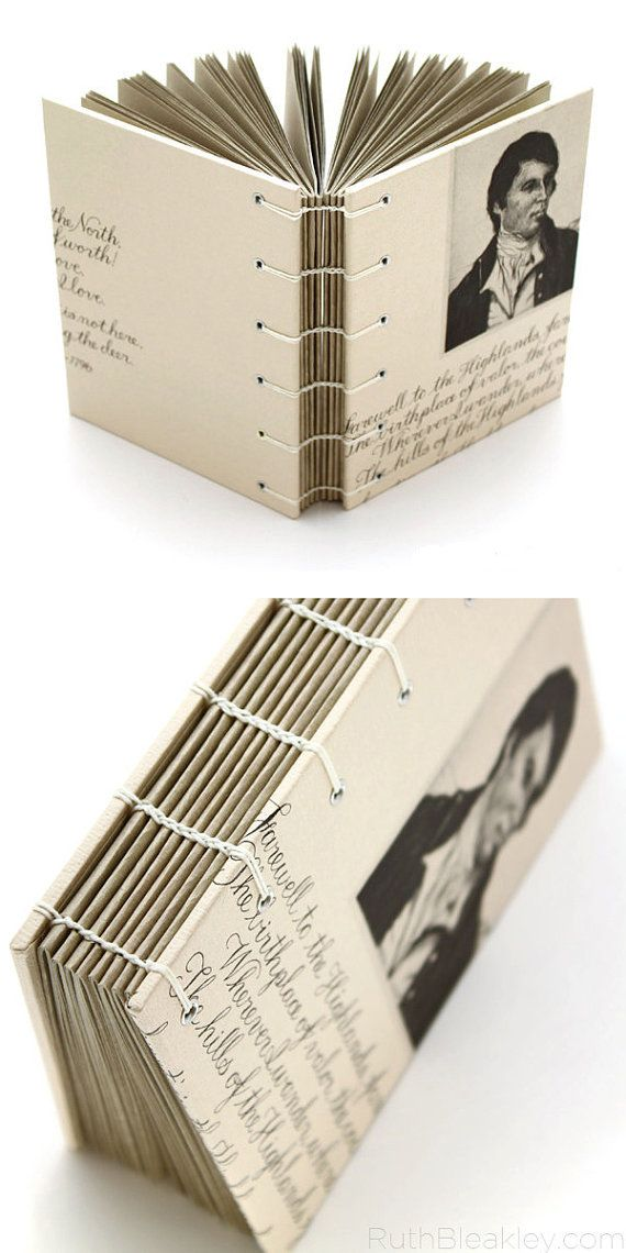 Robert Burns Highlands Journal - handmade by bookbinder Ruth Bleakley