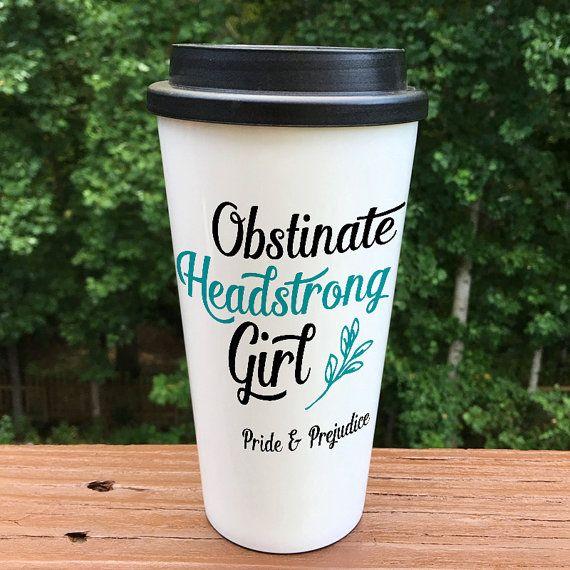 Pride and Prejudice travel mug