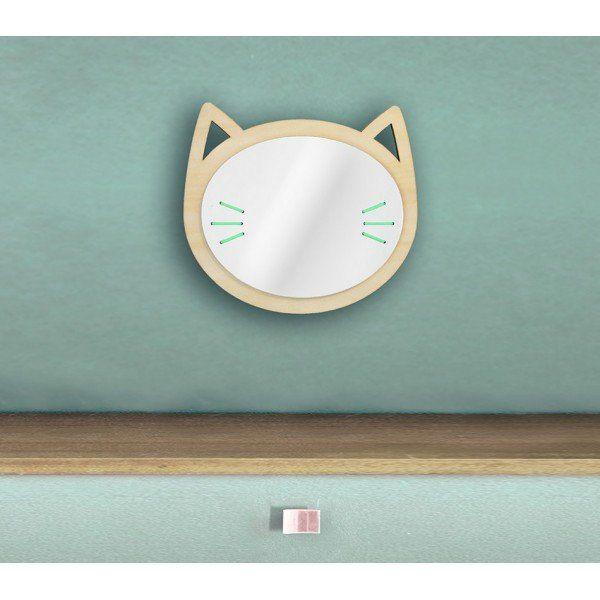 Miroir tête de Chat en bois Les petites découpes – Hariet & Rosie