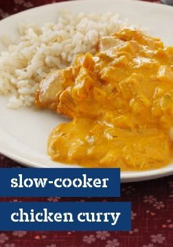 Slow-Cooker Chicken Curry – If you think chicken curry is too complicated to create in your kitchen, think again. This slow-cooker recipe is juicy, flavorful and prepped in 20 minutes.