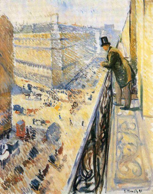 Street Lafayette by Edvard Munch   Size: 92x73 cm Medium: oil on canvas