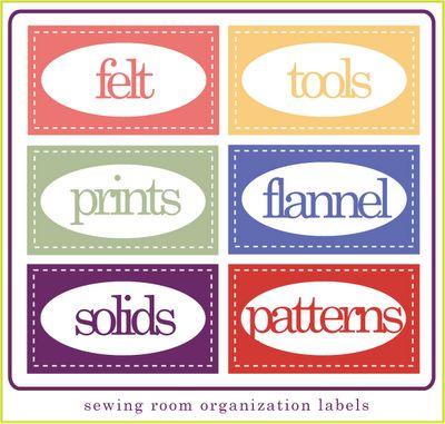 FREE Sewing organization printables