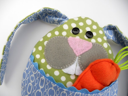 Little Bunny Boo Boo tutorial and free pattern - a softie toy or a soothing rice filled cooling or heating pad for your little ones