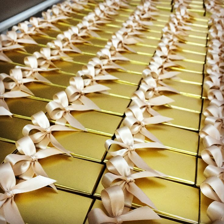 Caramel Favors! Dusty Gold & Blush