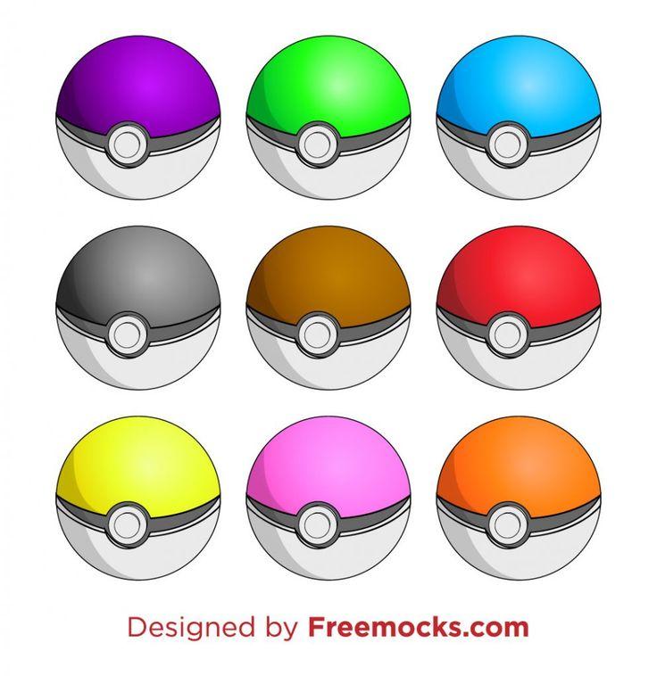 Pokeballs Colors | Freemocks.com