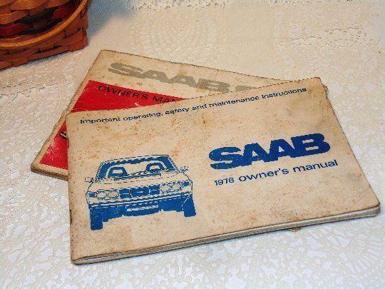 2 Vintage SAAB Owner's Manuals, 1970's Saab Automobile, 1971 and 1976, Repairs
