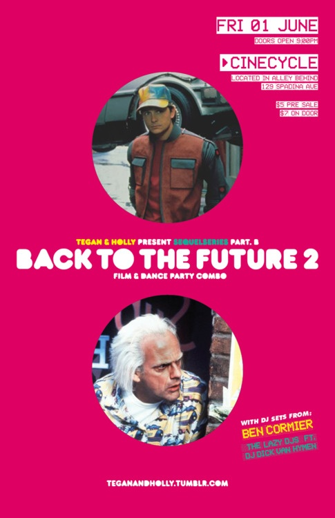 #SequelSeries part B: Back To The Future 2 (1.06.12) A Tegan production.
