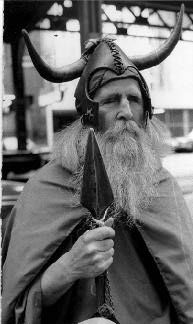Moondog, whom I used to see and sometimes talk to at the entrance to the subway next to Carnegie Hall in the 1960's. He dressed like a Vikking, wrote music and invented instruments. He was blind. He was respected by such luminaries as Benny Goodman, Arturo Toscanini and Philip Glass.