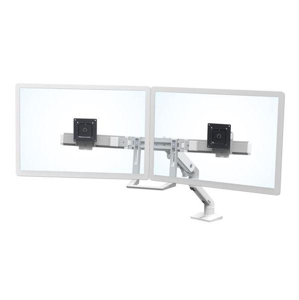 """Ergotron HX Desk Dual Monitor Arm - Monteringspakke (håndtag, drejelig arm, klemme til montering på skrivebord, pakning til gennemføring, 2 pivots, monterings-hardware, hængsel, forlængerdel) for 2 skærme - hvid - skærmstørrelse: op til 32"""" - sk...   Computersalg.dk : Alt inden for bærbare, computere, tablets, ipad, grafikkort, servere, kamera, gopro, gps, print, iphone. Altid de rigtige priser!"""
