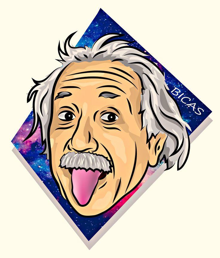 Genio , ilustracion , albert einstein , galaxy