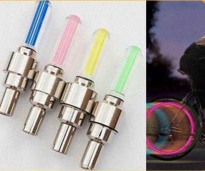 2PCS BLUE LED Flash Tyre Wheel Valve Cap Light for Car Bike bicycle Motorbicycle Wheel Light Tire Light ($4.55) - Svpply