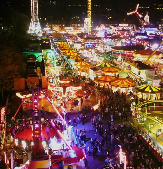 Hull Fair. Hull Fair is one of Europe's largest travelling funfairs, which comes to Hull, England for one week, from noon on Friday to midnight the following Saturday, encompassing the second Tuesday of October each year.