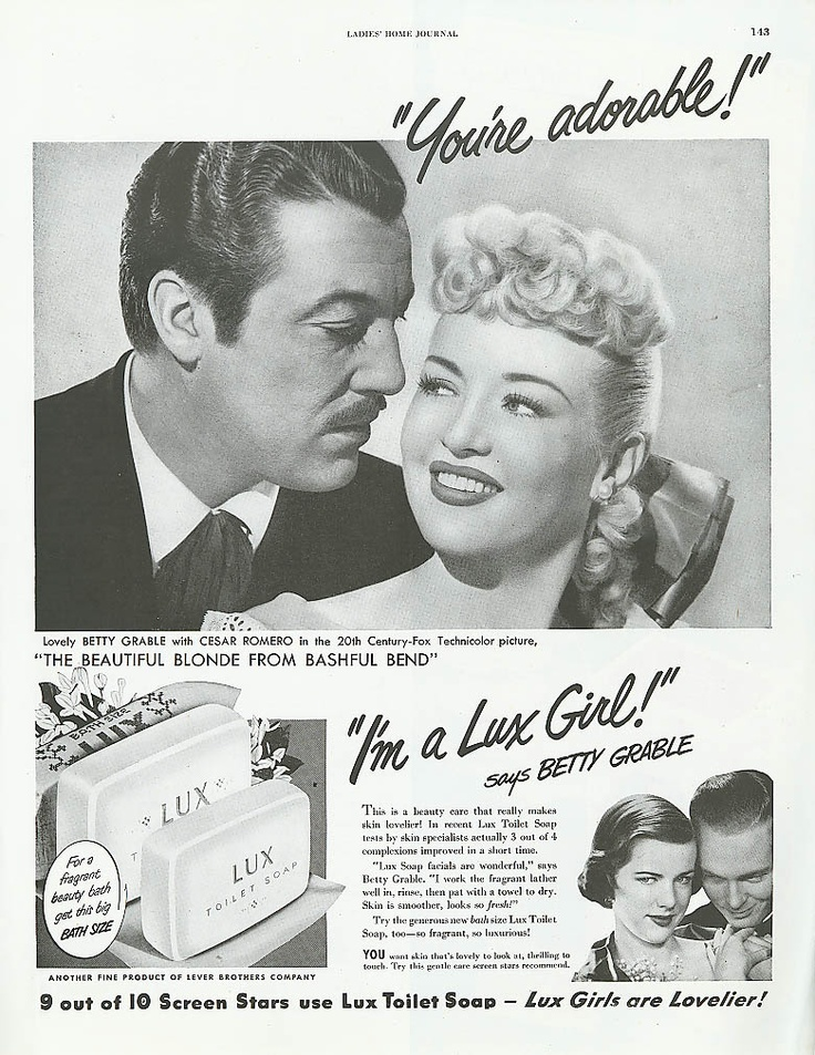 Cesar Romero and Betty Grable for Lux, 1949