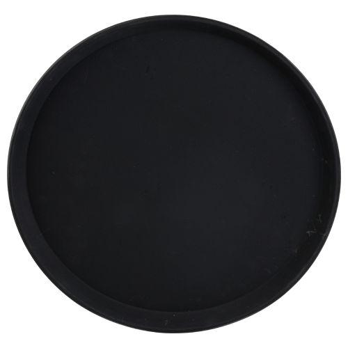 plateau rond antidérap. dia.35.5cm noir