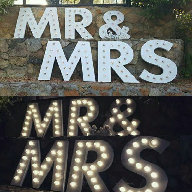 Homemade marquee lights