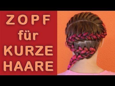 Haare an der Kopfhaut flechten französischen Zopf für kurze Haare mit Loom Bandz  • Alltag • Schule • Arbeit • Freizeit • schnell • einfach