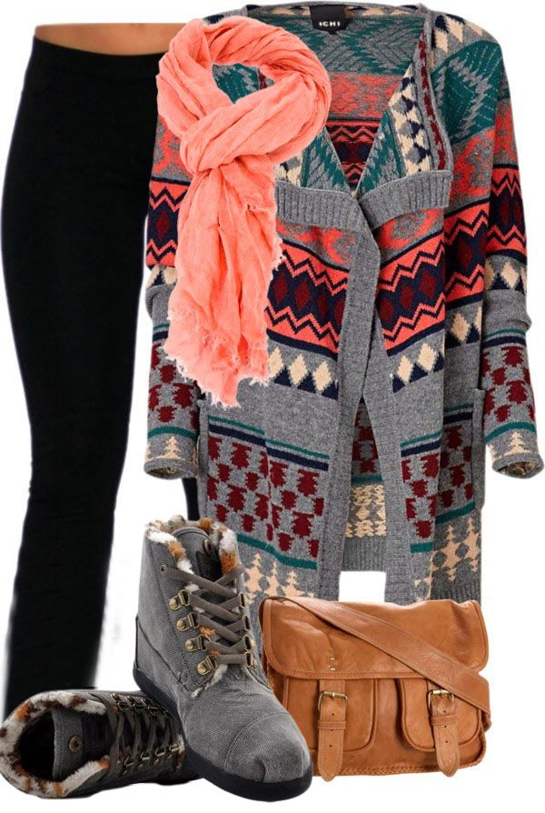 I love these TOMS, the sweater, and the scarf!