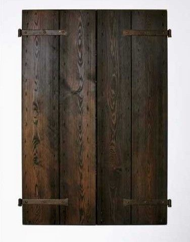 Cabinets Doors For Outdoor Bbq Rustic Wood With Strap