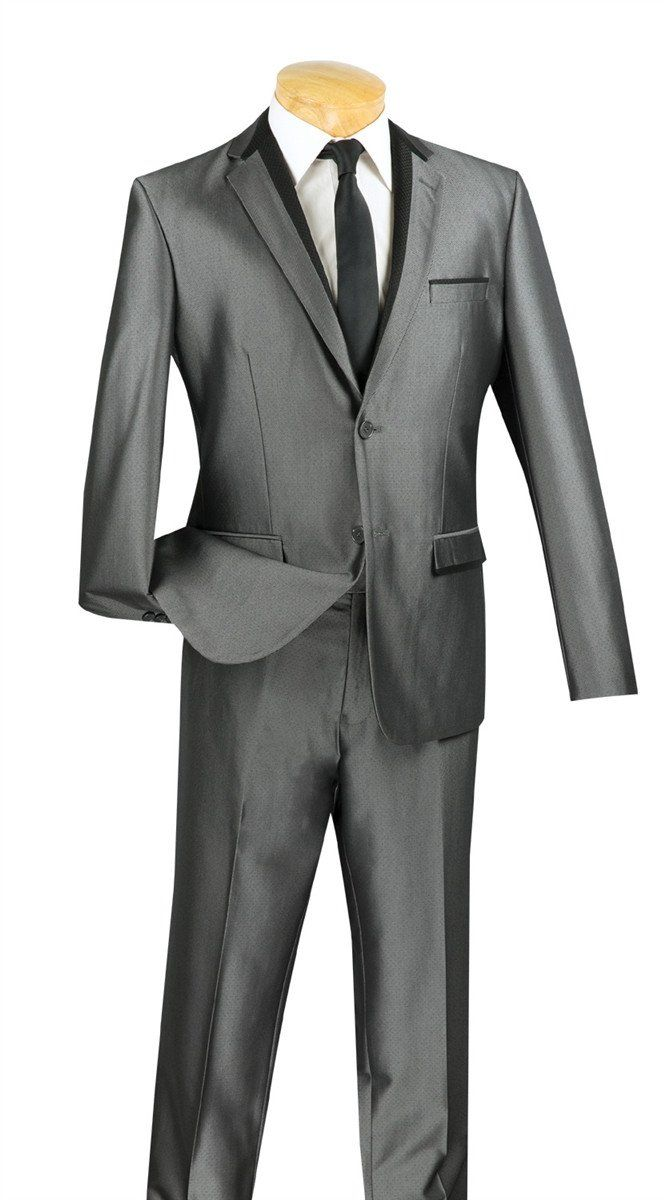 DESIGNED GRAY ULTRA SLIM FIT SUITS FASHION ULTRA SLIM SUIT NEW