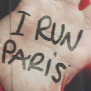 running through the streets of paris