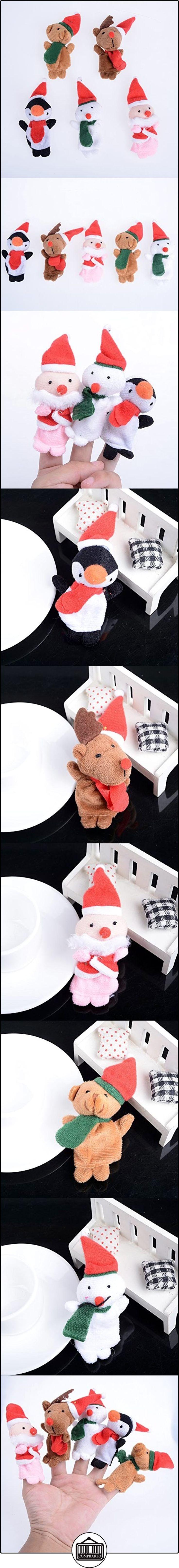 Yantu paquete de 5Navidad Papá Noel Muñeco de nieve suave Mini dedo marionetas juguetes para niños regalo entre padres e hijos juego juguete de peluche  ✿ Regalos para recién nacidos - Bebes ✿ ▬► Ver oferta: http://comprar.io/goto/B015J2SPZ0