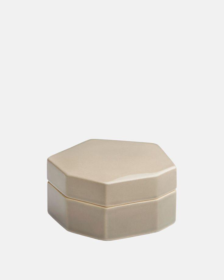 Officina Storage jar in Grey by Kahler Design