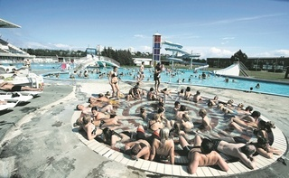 Relax in one of the city´s thermal pools. #Iceland #Reykjavik