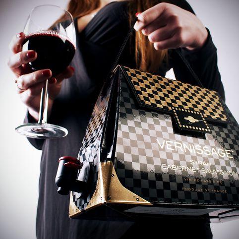"Wine handbags - wine in a stylish ""purse"" to go! LOL"