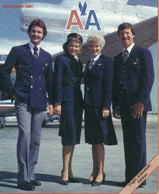 airline uniforms | Airlines Past & Present: American Airlines Flight Attendant Brochures ...