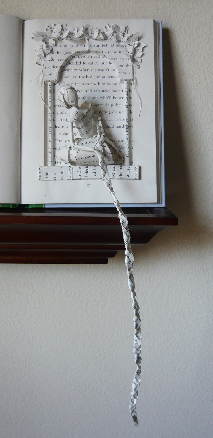 Rapunzel Book Sculpture. This is so creative. I just love checking out all the creativity on this site