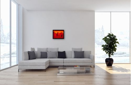 Gemälde Nr. 772 Willkommen in Red Town I (2016) von Manuel Süess im Wohnzimmer   Malerei, Tanzen, Tanzmalerei, Inneneinrichtung   Mehr: http://art-by-manuel.com/de/nr.-772-willkommen-in-red-town-i-2016/