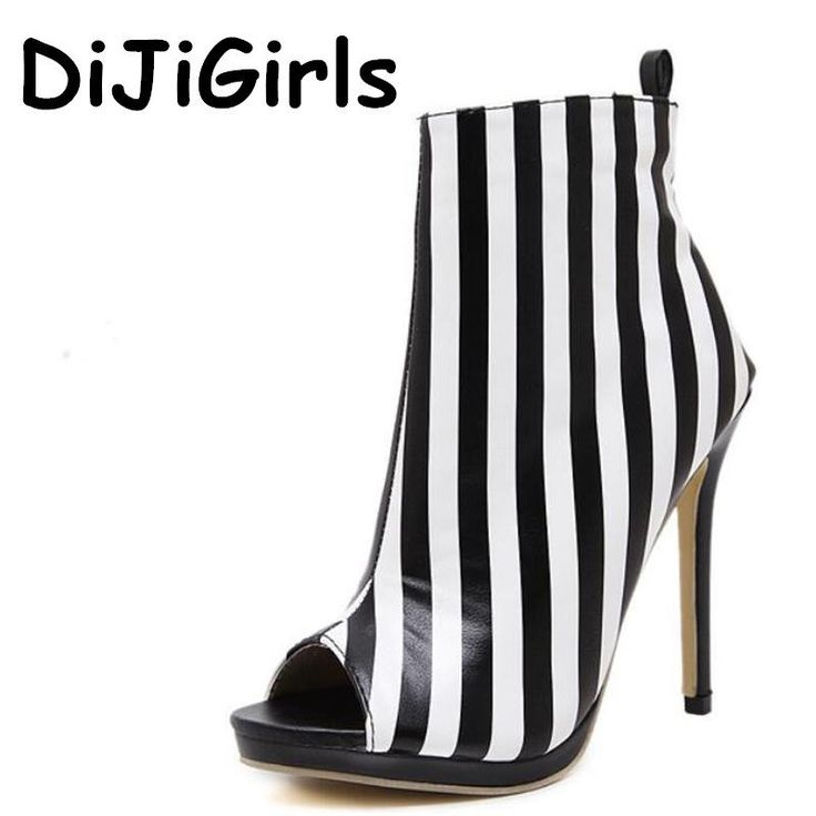 Striped Sandals  Sexy Open Toe
