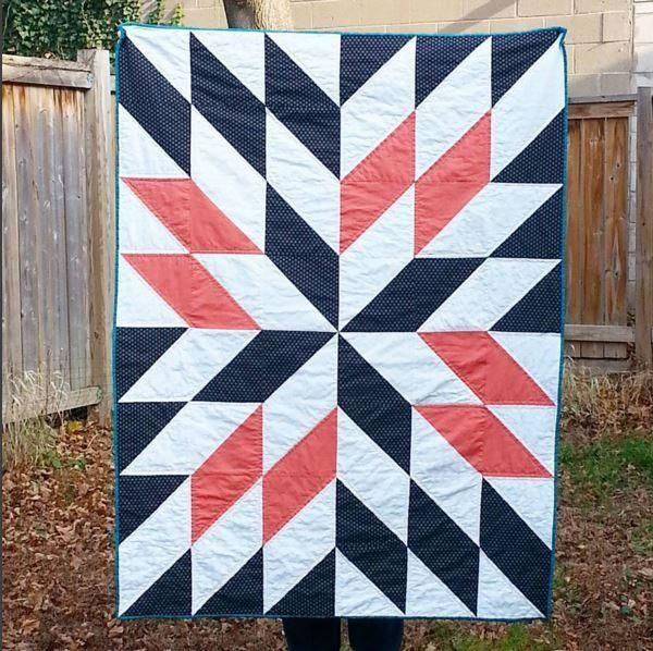 Free Quilt tutorial: Star Gazing