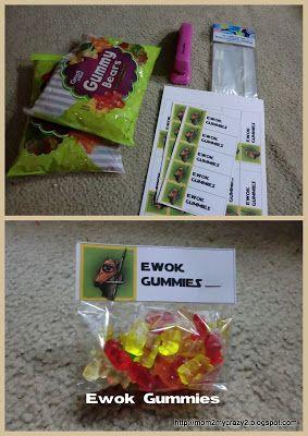 Star Wars Party .... Ewok Gummies