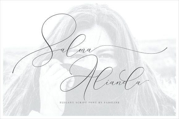 Salma Alianda - Elegant Font Script by FadeLine on @creativemarket