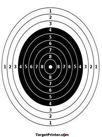 Bullseye Target; printable targets for BB gun practice