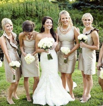 champagne wedding dresses j.crew Everygirl Wedding: Stephanie Zeller