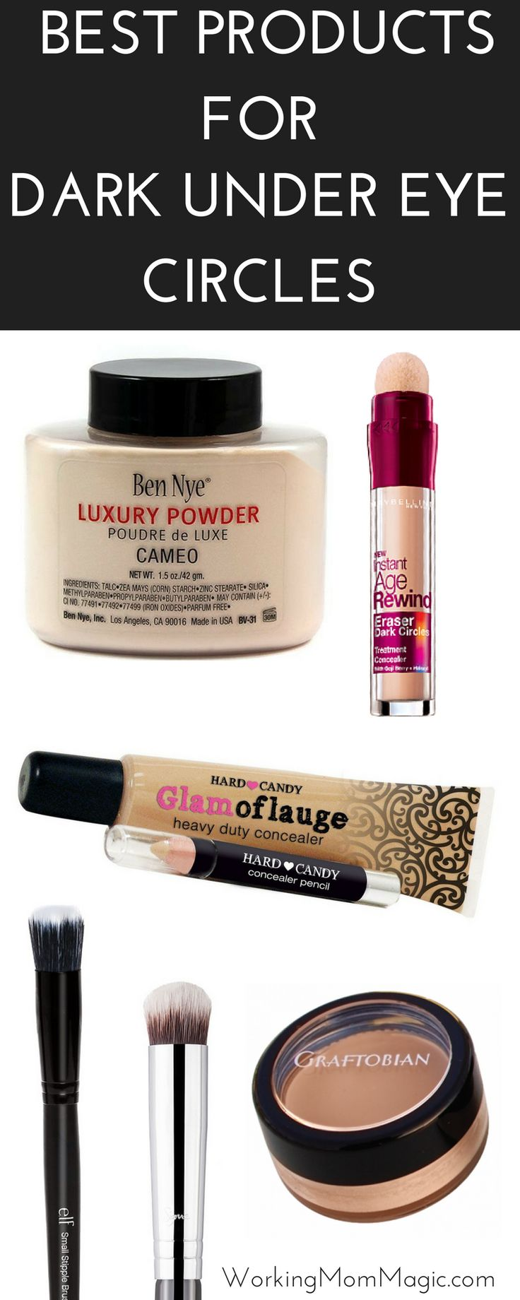 If you have DARK under eye circles you are not alone! I have tried EVERYTHING and these are some of my very favorite products that work!