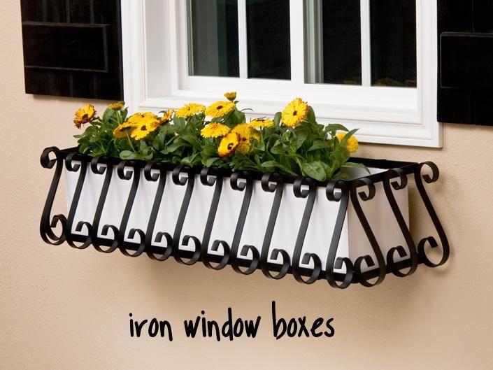 Flower Boxes ; Window Box Planters – PVC, wood, iron, copper ...