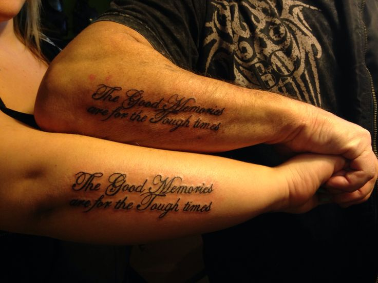 Father a daughter the good memories are for the tough for Father daughter tattoos ideas