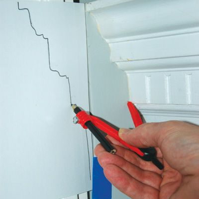 How to cut a piece of drywall around an intricate border or molding…
