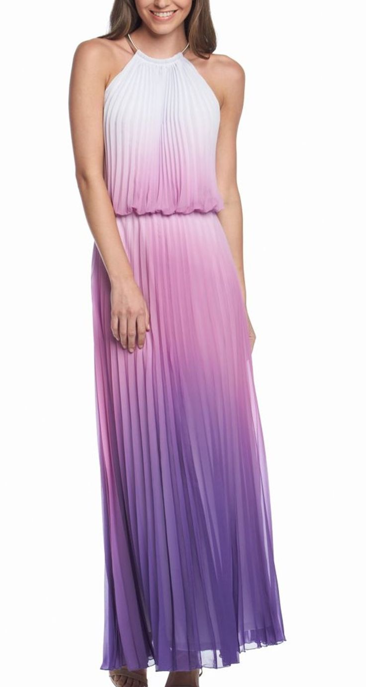 This ombre printed maxi dress would be beautiful in the fall.