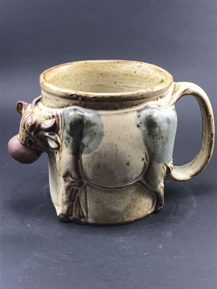 Giftcraft Japan Cow 3D Figural Stoneware Pottery Mug  | eBay