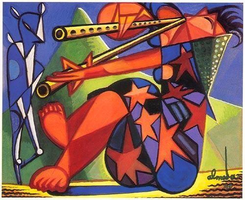 «Torso de mulher»  Técnica mista,1938.  660x540 mm  José de Almada Negreiros (1873 - 1970 )