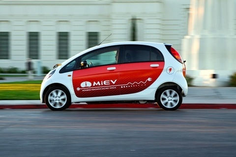 Mitsubishi's Euro-style i-MiEV (Innovative Mitsubishi Electric Vehicle)