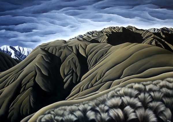 Artfind.co.nz - Artwork - Mt Awful Storm by Diana Adams