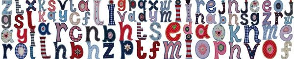 Iron on fabric letters to personalize name gifts for baby children